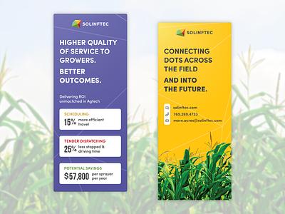 Solinftec conference pop-up banners conference startup marketing corn pop up pop up banner agriculture ag branding banner graphic design