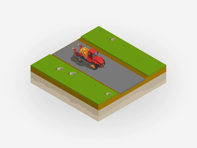 Route optimization animation optimization route ag ag retail agriculture corn field field farm motion design vector sprayer tractor isometric animation