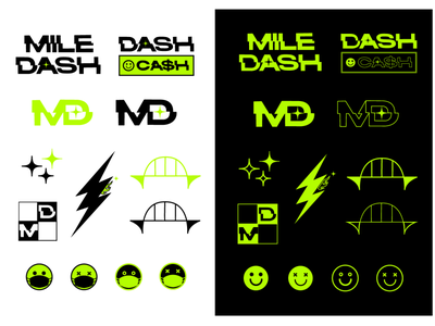 Mile Dash stickers icon illustration graphics stickers branding