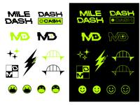 Mile Dash stickers icon illustration graphics stickers branding