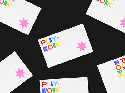 play at work business cards branding and identity branding