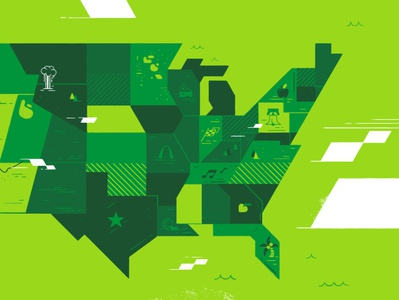 USA Map Styleframe