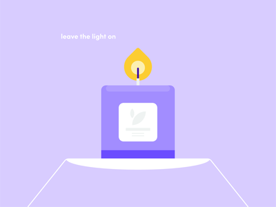 candle purple fun typography icon world abstract design flat vector iconographic illustration