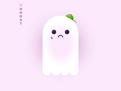 13. ghost 👻 halloween boo pink green gradients inktober2020 ghost mintober typography character world icon abstract design flat vector iconographic illustration