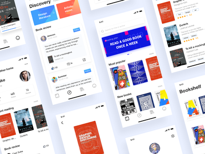 Book city reading ux design ui