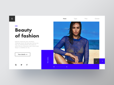 Beauty of fashion web 平面 向量 web 品牌 插图 应用 设计 ux ui