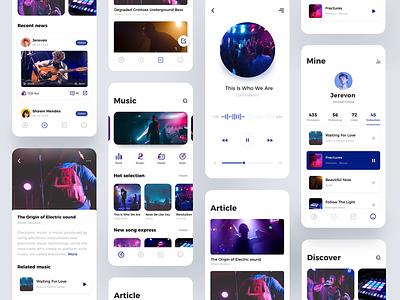 Music Interface Collection 图标 品牌 活版印刷 插图 向量 设计 ux ui