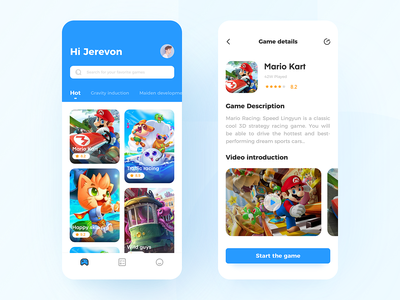 Game Applications typography vector illustration app 品牌 向量 设计 ui