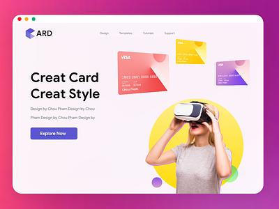 Creat Bank Card LandingPage chou pham banner hero banner visa card template landingpage visa card bank card bank ui