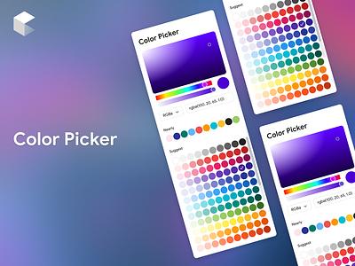 Color Picker blur backgroud card elements color picker picker color