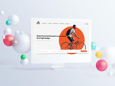 Cycling Tour ui ux landingpage showcase