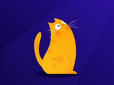CAT (Sketch Cover) gain illustration illustrator cat darkblue blue yellow draw cover sketch