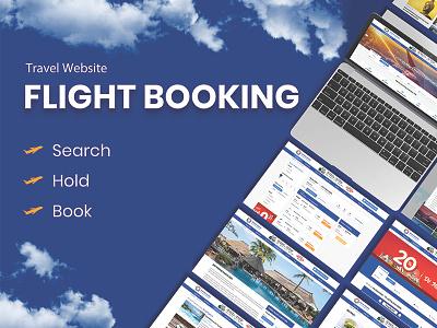 Flight Booking - Travel Website flight flight booking booking templates travel landingpage website