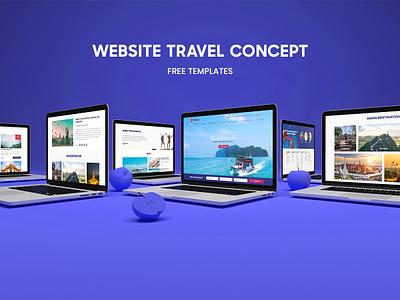 Travel HomePage Concept ux ui travel trip landingpage homepage concept travel website website choupham