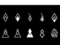 Abstract Hipster Icons