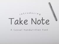 Take Note Handwritten Font