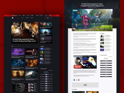 IVPL eSport Article List schedule gamer website web design list view design tournaments games newsfeed news list page dark theme interaction design ux ui dailyui clean