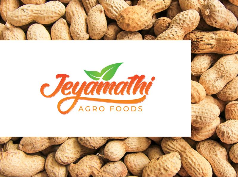 Jeyamathi Agro foods textlogo illustration food design food minimal logo brand identity design branding