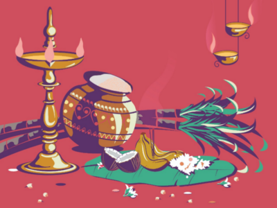 Pongal festival hindu pongal illustrator illustration creativity tradition
