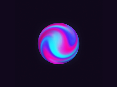 Multicolored Sphere | AI visual motion graphic art motion ui 3d artificial intelligence sphere concept ai magic ball glowing multicolored