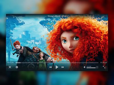 Video Player UI macos windows skin vlc design ux ui player video