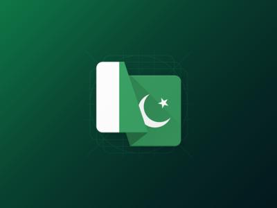 Material Flag Icon - Pakistan