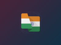 Material Flag Icon - India