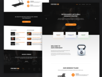 Fitness Web Design Landing page