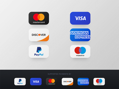 Credit Card Payments Icons | PSD Freebie new 2017 free maestro american express discover mastercard visa paypal icons payments credit card