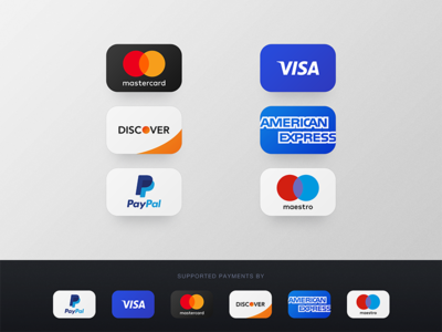 Credit Card Payments Icons | PSD Freebie