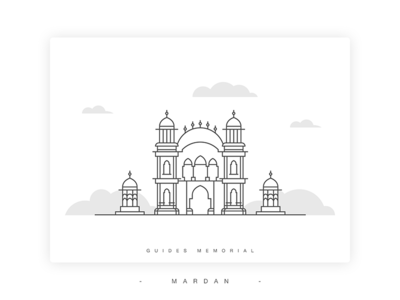 Guides Memorial Illustration line art dribbble building landmark pakistan vector kpk mardan illustration memorial guides