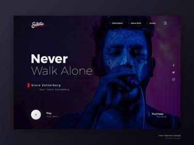 Music Website   Exploration montserrat style guide user interface typography design interface ux ui web music sture zetterberg never walk alone