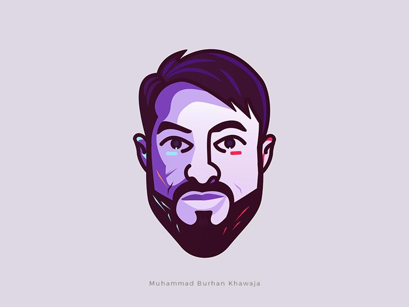 Avatar 2 | MBK art ux ui designer pakistan islamabad burhan khawaja beard illustration vector face avatar
