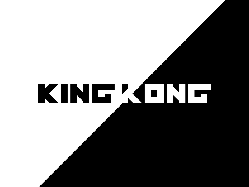 King Kong logotype icon logo typography typeface lettering type kong king