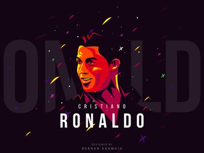Cristiano Ronaldo poster soccer artwork vector illustration portugal world cup 2018 fifa player football ronaldo cristiano