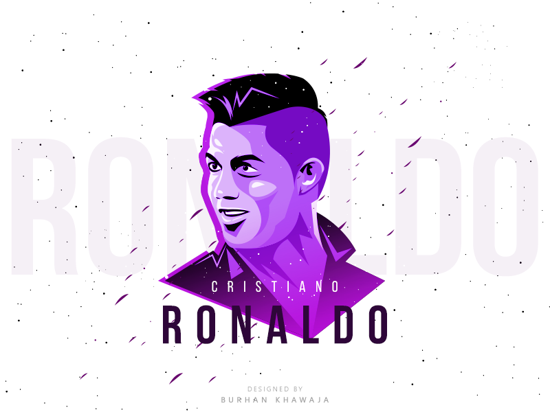 Ronaldo dribbble  purple