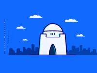 Jinnah mausoleum minimal colored2
