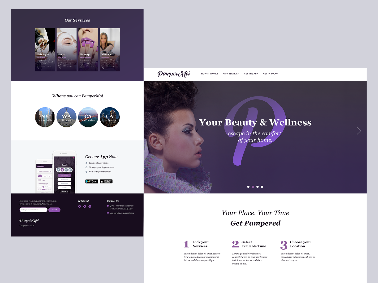 Beautyservices landing page