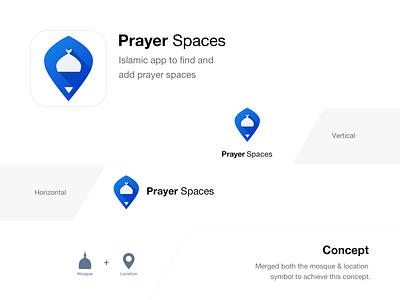 Prayer Spaces – Branding islamabad ux ui mobile web identity design brand branding find prayer spaces concept islamic logo graphic design appicon icon app muslim mark
