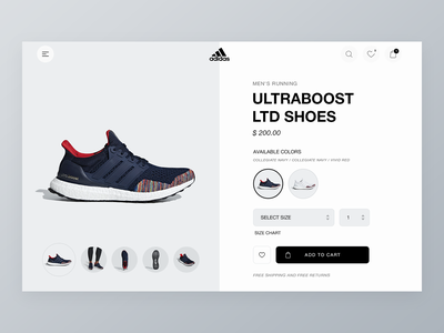 Adidas experience form add to cart uplabs adidas app challenge daily100 mobile tablet web sports shopping user interface ux ui design ecommerce app shoes adidas app website