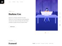 Portfolio designer girl web