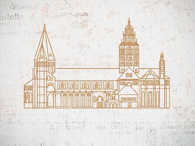 Mainzer Dom mainz monoline minimal