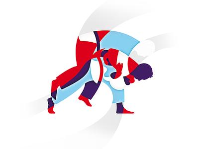 Judoka judo illustration