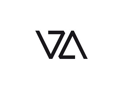 VZA geometry typography logo