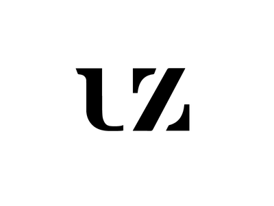 UZ geometry typography logo