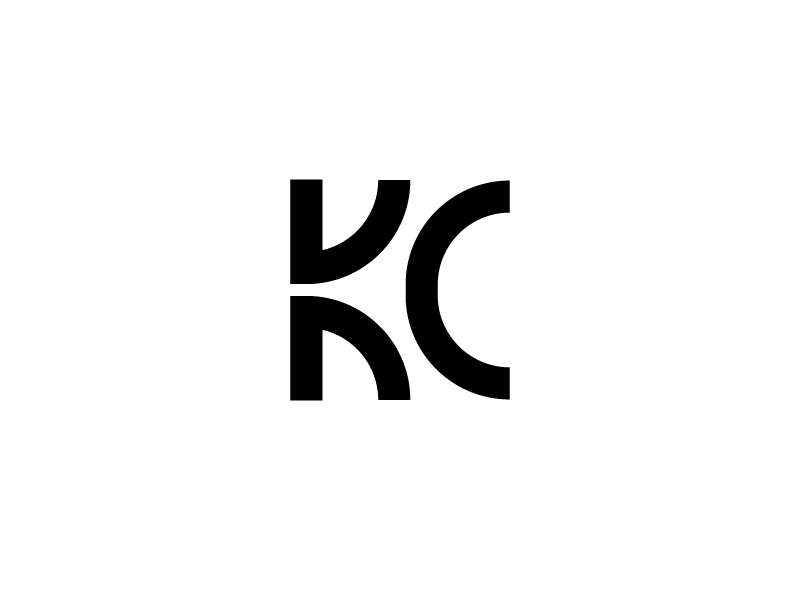 KC monogram logo typography geometry