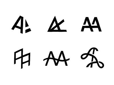 AA Monograms 1/2 monogram typography