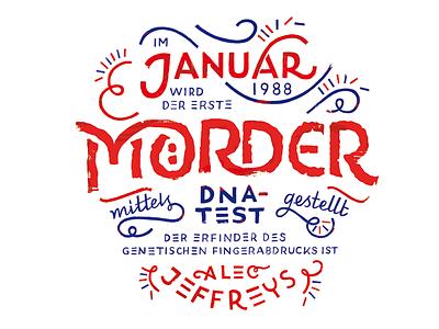 Kalender 2017 / Januar murderer jeffreys dna lettering