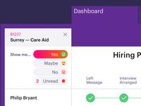Healthcare app dashboard
