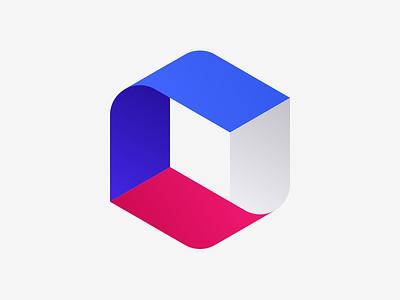 Capital möbius hexagon financial finance symmetry logo branding